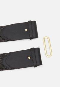 Lauren Ralph Lauren - STRETCH STRAW STRETCH - Belt - black - 1