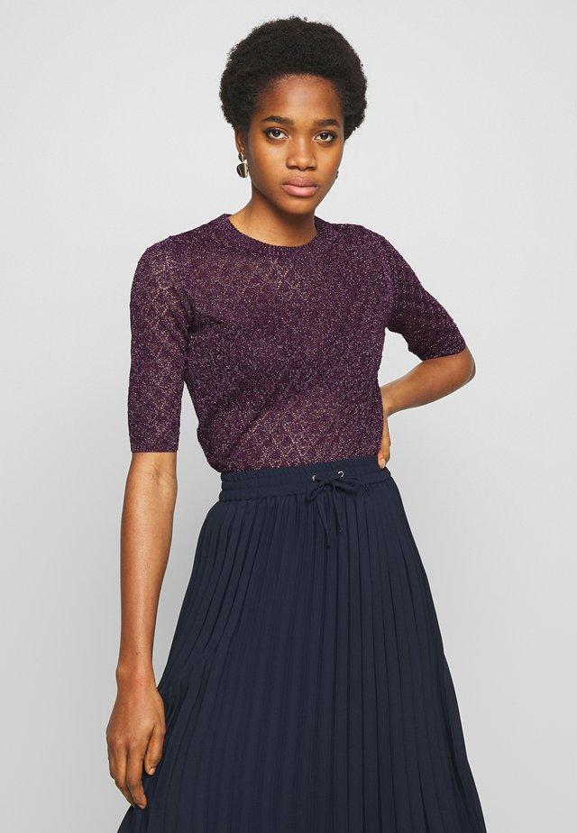 DELON - T-shirt med print - violet