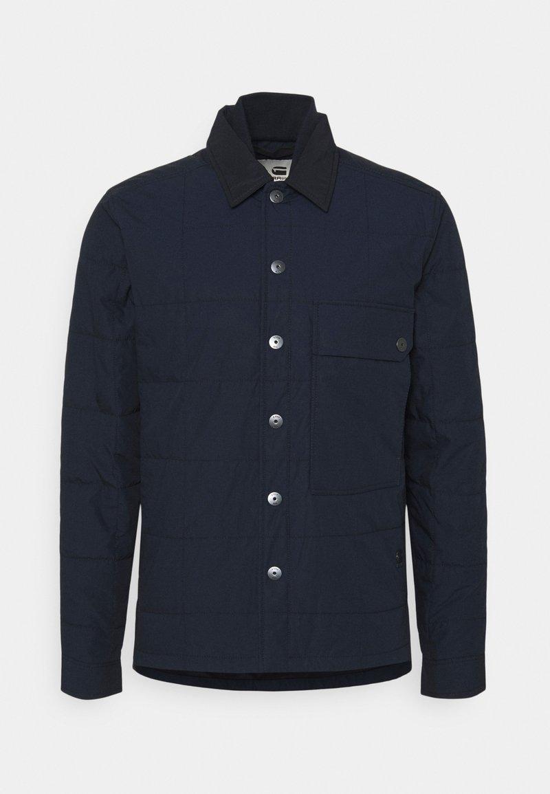 G-Star - QUILTED OVERSHIRT - Lehká bunda - mazarine blue