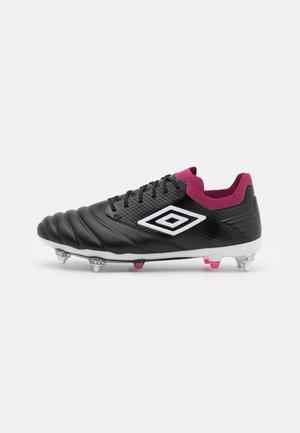 TOCCO PRO SG - Scarpe da calcio con tacchetti - black/white/raspberry radiance/pink peacock