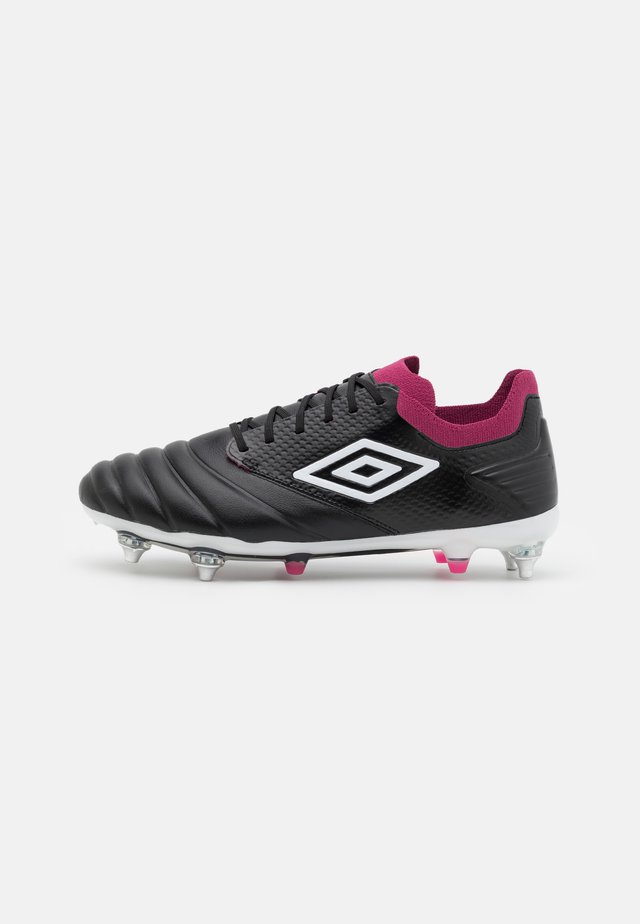 TOCCO PRO SG - Screw-in stud football boots - black/white/raspberry radiance/pink peacock