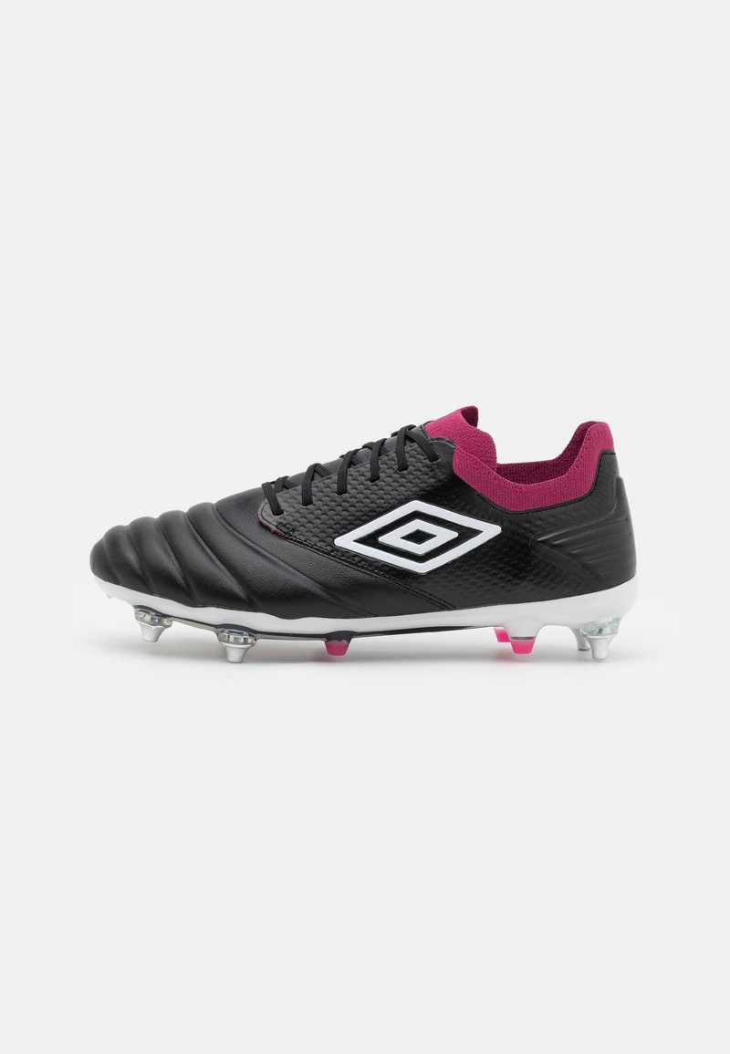 Umbro - TOCCO PRO SG - Screw-in stud football boots - black/white/raspberry radiance/pink peacock
