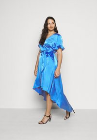 Missguided Plus - FLUTTER HIGH LOW MIDI DRESS - Day dress - navy - 1