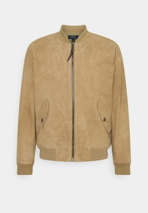 TISSUE GUNNERS  - Leather jacket - desert khaki