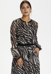 Kaffe - KAVENDA  - Button-down blouse - black zebra print - 0