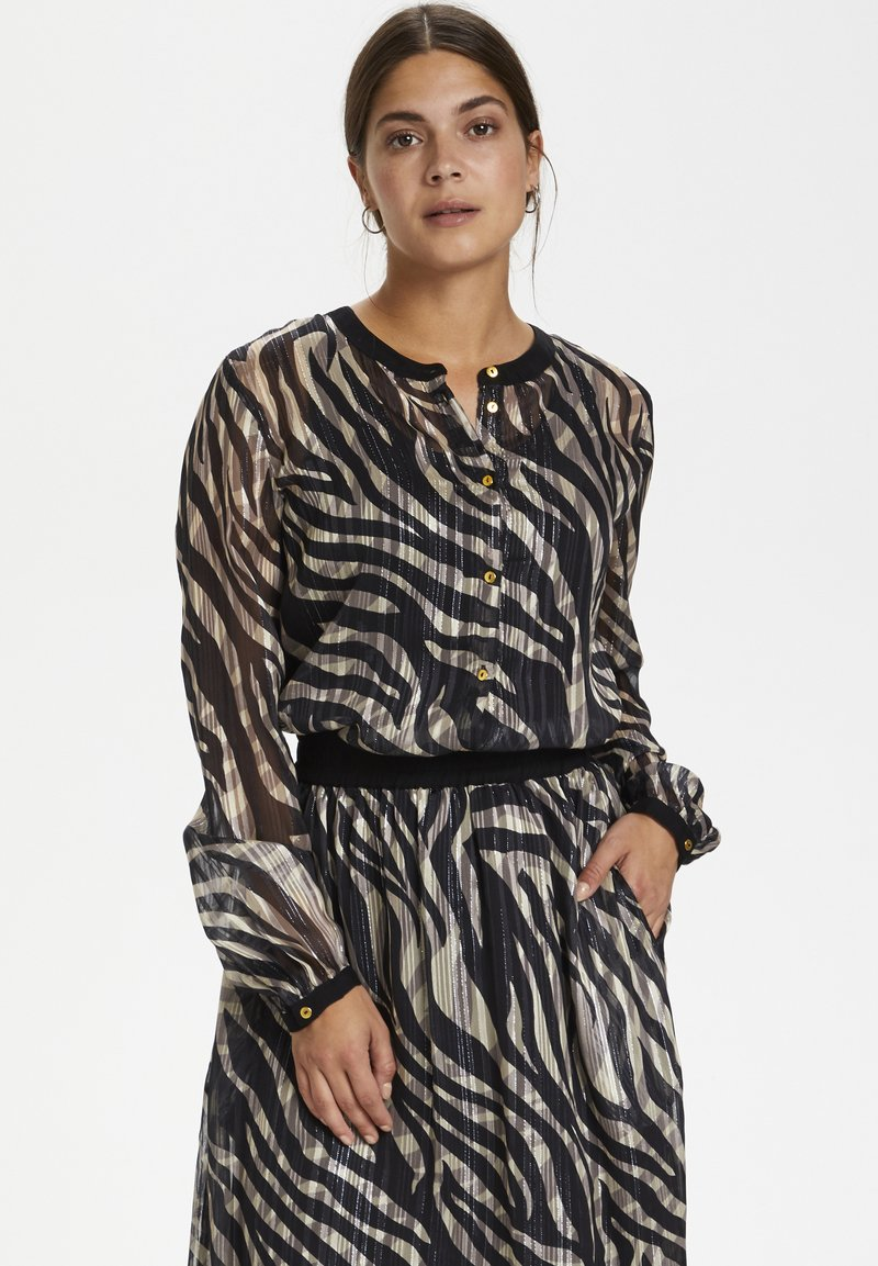 Kaffe - KAVENDA  - Button-down blouse - black zebra print