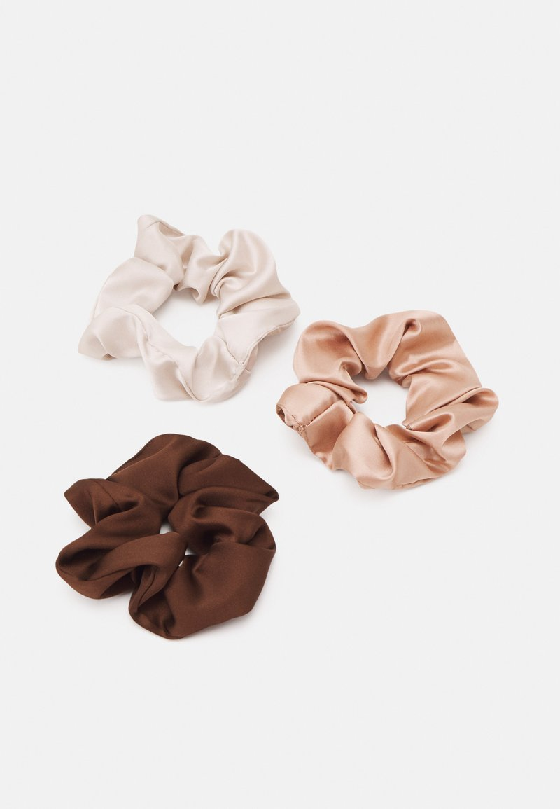 Topshop - SCRUNCHIE 3 PACK - Hair styling accessory - brown