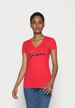 SLIM FIT - T-shirt imprimé - tomato juice