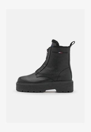 WARMLINED ZIPPER BOOT - Winter boots - black