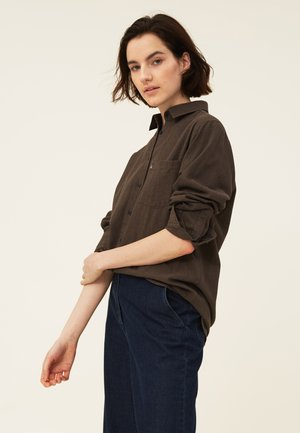 ISA LT  - Button-down blouse - brown melange