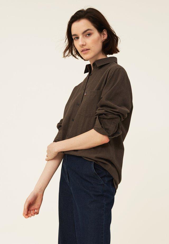 ISA LT  - Button-down blouse - brown melange