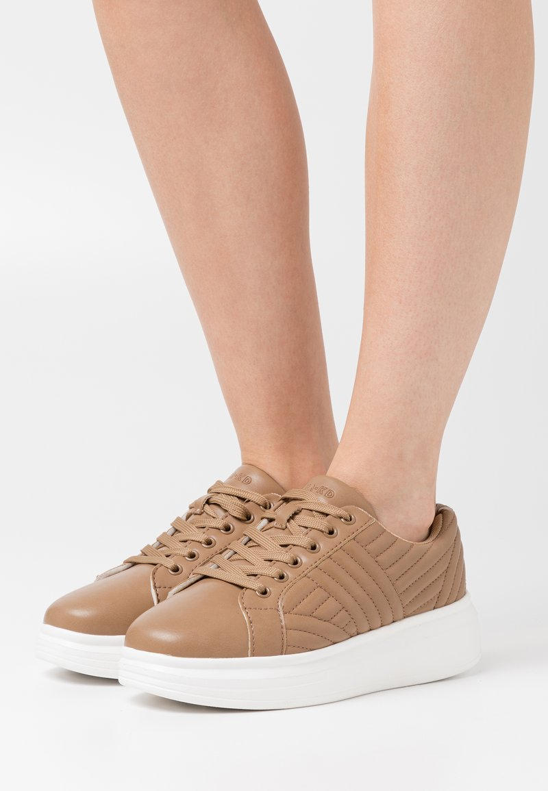 NA-KD - QUILTED - Trainers - beige