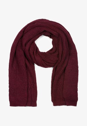MIT WELLENMUSTER - Scarf - bordeaux-rot