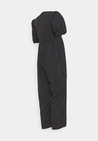 Missguided Maternity - POLKA PUFF SLEEVE CULOTTE - Tuta jumpsuit - black - 1