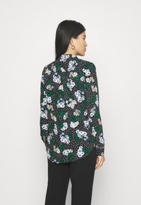 Marks & Spencer London - FLORAL CASUAL - Button-down blouse - black - 2