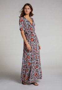Oui - Maxi dress - turquoise/red - 0