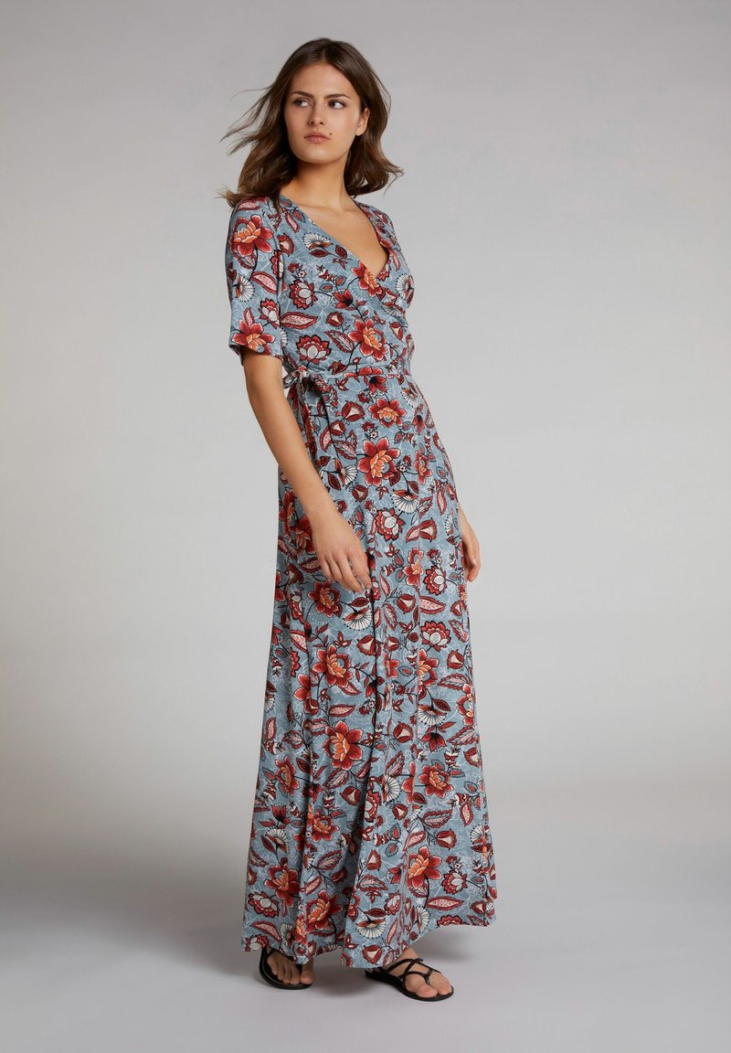 Oui - Maxi dress - turquoise/red