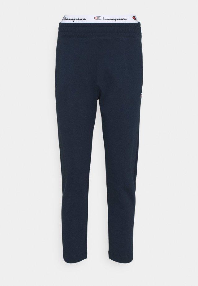 STRAIGHT HEM PANTS - Teplákové kalhoty - dark blue