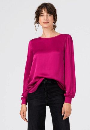 MIT STRICKBLENDEN - Langarmshirt - pink
