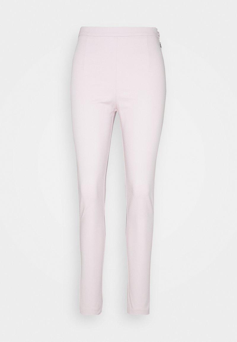 Patrizia Pepe - HIGH WAIST PANT - Trousers - lilac tulle