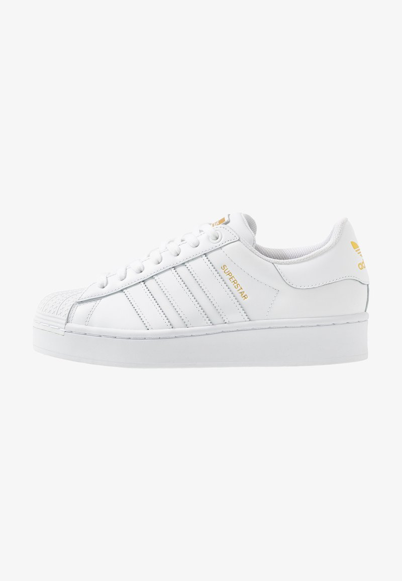Laboratorio vacunación tienda de comestibles  adidas Originals SUPERSTAR BOLD - Trainers - footwear white/gold  metallic/white - Zalando.co.uk