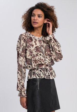 Button-down blouse - light cream varied