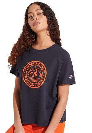 BOXY - Print T-shirt - deep navy
