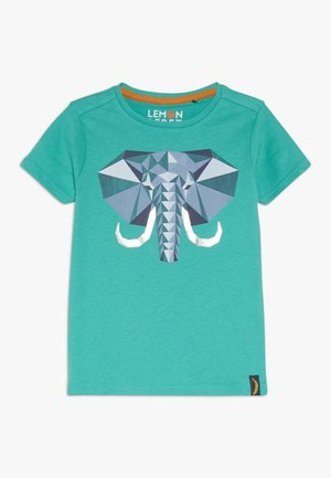 Print T-shirt - deep green