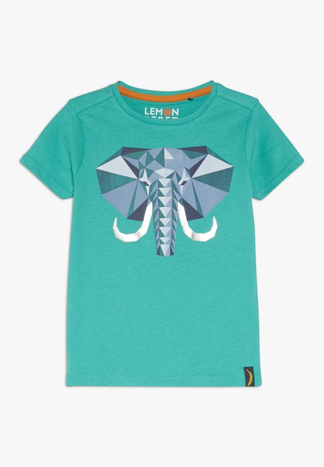 T-shirt med print - deep green