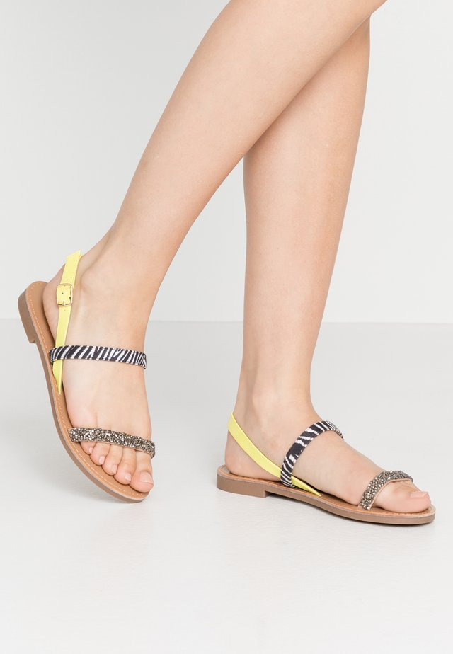 ONLMELLY  - Sandals - neon yellow