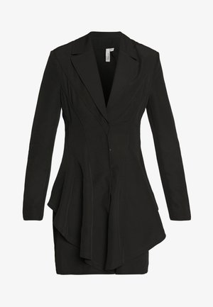 FRILL SUIT DRESS - Etui-jurk - black