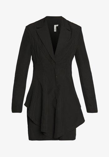 FRILL SUIT DRESS - Shift dress - black