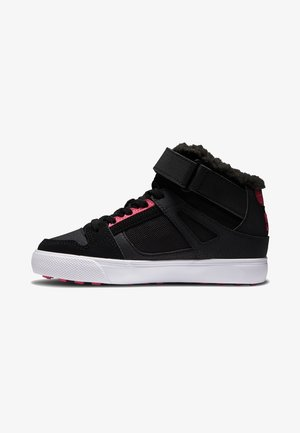 PURE MIT AD - High-top trainers - black/pink/black