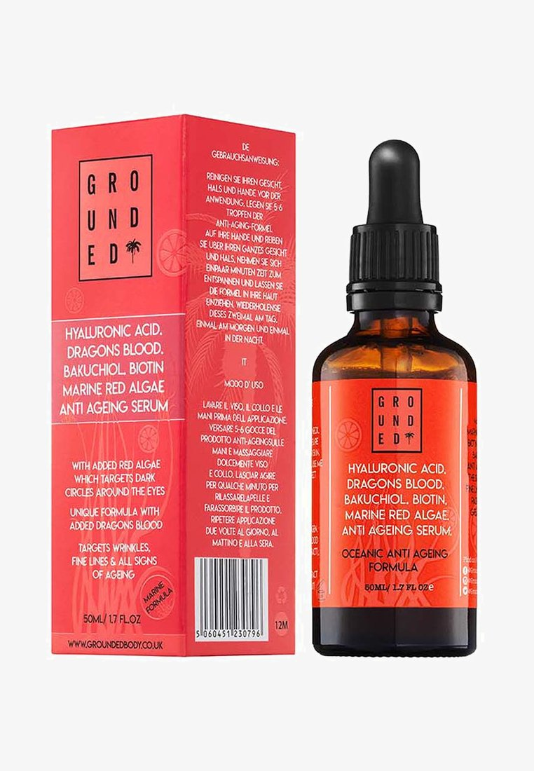 Grounded - DRAGONS BLOOD AND HYALURONIC ACID SERUM - Serum - -