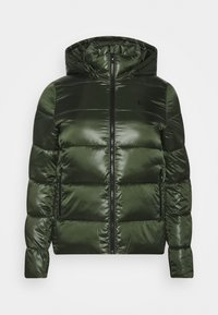 Calvin Klein Jeans Plus - SHINY SHORT PUFFER - Winter jacket - khaki - 0