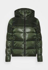SHINY SHORT PUFFER - Zimní bunda - khaki