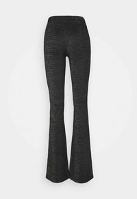 ONLY Tall - ONLPAIGE FLARED PANT - Trousers - black/gliter - 1