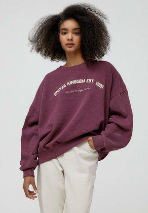 COLLEGE-SWEATSHIRT MIT RUNDAUSSCHNITT - Sweatshirt - bordeaux