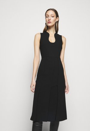 CUT OUT FIT AND FLARE - Shift dress - black