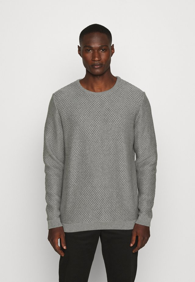 FIELD CREW NECK - Jumper - mottled grey