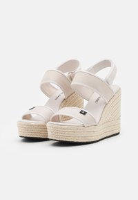 Calvin Klein Jeans - SLING CO - High heeled sandals - white/sand - 2