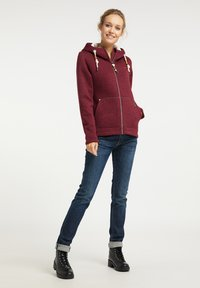 Schmuddelwedda - Fleece jacket - bordeaux melange - 1
