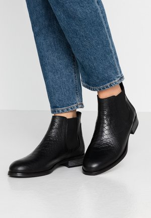 LEATHER CHELSEAS - Ankle boots - black