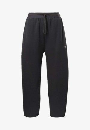 FLEECE WORKOUT - Pantalones deportivos - black