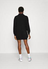 ONLY - ONLVINA HIGHNECK DRESS - Day dress - black - 2