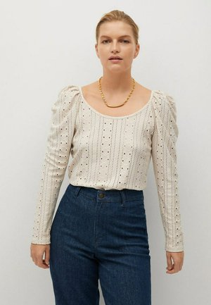 VINTAGE - Long sleeved top - ecru