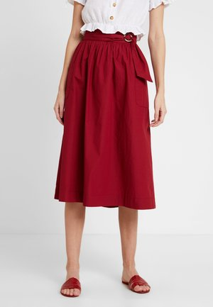 TOTEMA - Áčková sukně - rouge dorient