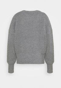 Missguided Tall - BASIC CHUNKY CREW NECK - Jumper - grey - 1