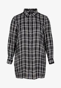 Zizzi - Button-down blouse - black comb - 1