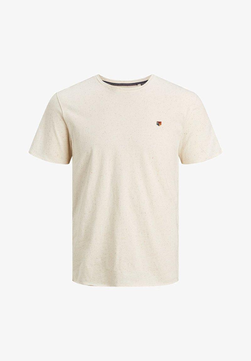 Jack & Jones PREMIUM - RUNDHALSAUSSCHNITT - T-shirt - bas - cloud dancer